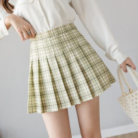 skirt Autumn of 2019 S,XL,XS,L,M,XXL longuette commute Pleated skirt Solid color 18-24 years old 81% (inclusive) - 90% (inclusive) other Nylon Haolun other Panel, zipper