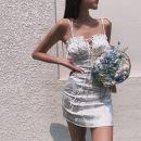 Dress Summer 2021 white S,M,L Short skirt singleton  street High waist camisole five point one one