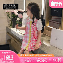 suit QMD / chimedi Pink / pre-sale 10 days delivery 110cm 120cm 130cm 140cm 150cm 160cm female summer other 2 pieces Thin money There are models in the real shooting Single breasted EQAv58944 Class B Summer 2021 Chinese Mainland