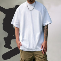 T-shirt Fashion City White, black, light gray, Navy, khaki, army green, yellow, green, orange routine M,L,XL,2XL Others Short sleeve Crew neck easy Other leisure summer Cotton 100% youth routine Hip hop Cotton wool 2019 Solid color cotton 80% (inclusive) - 89% (inclusive)