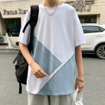 T-shirt Youth fashion white thin S. M, l, XL, 2XL, XS plus small Others Short sleeve Crew neck easy Other leisure summer