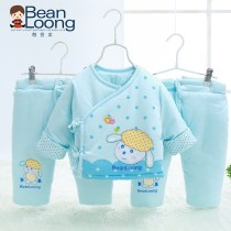 Cotton padded jacket Bean Dragon 5102 leg not detachable (blue) 5102 leg not detachable (yellow) 5102 leg not detachable (pink) 5114 leg detachable (blue) 5114 leg detachable (yellow) 5114 leg detachable (pink) Size 66 recommended for 0-3 months old nothing other neutral thickening Diagonal lace up