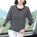 T-shirt M,L,XL,2XL,3XL,4XL Autumn of 2019 Long sleeves Crew neck easy Regular routine commute cotton 86% (inclusive) -95% (inclusive) 30-39 years old Korean version Other / other