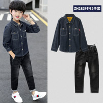 suit Qiaomi rabbit 120cm 130cm 140cm 150cm 160cm male spring and autumn college Long sleeve + pants 3 pieces There are models in the real shooting Single breasted nothing cotton children Giving presents at school Class B Cotton 100% Spring 2020 Chinese Mainland Guangdong Province