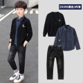 suit Qiaomi rabbit 120cm 130cm 140cm 150cm 160cm male spring and autumn leisure time Long sleeve + pants 3 pieces routine There are models in the real shooting Single breasted nothing cotton children Expression of love Class B Cotton 100% Autumn 2020 Chinese Mainland Guangdong Province