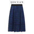skirt Spring 2020 Average size blue Middle-skirt grace High waist Fluffy skirt Solid color Type A 25-29 years old 51% (inclusive) - 70% (inclusive) other Zipper, lace