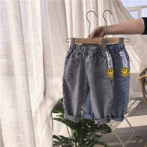 trousers middle-waisted Rubber belt Class B male Other / other 18 months, 2 years old, 3 years old, 4 years old, 5 years old, 6 years old, 7 years old, 8 years old trousers spring and autumn Jeans No model in real shooting Denim Korean version Other 100% 6 Chinese Mainland Gray, blue