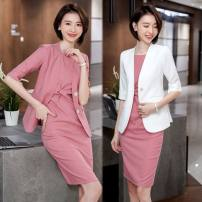 Professional dress suit S,M,L,XL,XXL,XXXL,4XL Spring 2020 elbow sleeve Jacket, other styles other 25-35 years old
