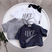 T-shirt Grey, dark grey, white Other / other 100cm [tag 5], 110cm [tag 7], 120cm [tag 9], 130cm [tag 11], 140cm [tag 13] male summer Long sleeves Crew neck leisure time No model nothing cotton other Cotton 100% Class B Sweat absorption