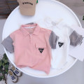 T-shirt Yellow, white, pink Other / other 100cm,110cm,120cm,130cm,140cm male summer Short sleeve Lapel and pointed collar leisure time No model nothing cotton Solid color Cotton 100% Class B Three, four, five, six, seven, eight, nine