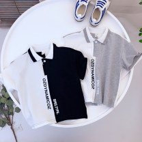 T-shirt White for grey, white for black Other / other 100cm,110cm,120cm,130cm,140cm male summer Short sleeve Lapel and pointed collar leisure time No model nothing cotton other Cotton 100% Class B Two, three, four, five, six, seven, eight, nine