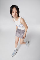 skirt Autumn 2020 Light grey Short skirt Retro low-waisted A-line skirt Solid color Type A 18-24 years old More than 95% Other / other zipper