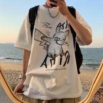 T-shirt Youth fashion White, dark grey, black routine S,M,L,XL,2XL,3XL,4XL Tagkita / she and others Short sleeve Crew neck easy Other leisure summer teenagers routine tide 2021 Cartoon animation printing cotton Cartoon animation No iron treatment