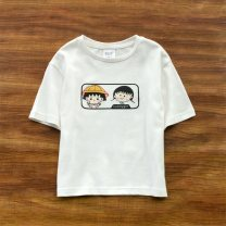 T-shirt 522 white, 523 white, 524 orange, 525 white, 526 white The future female summer Short sleeve Crew neck leisure time No model nothing Pure cotton (100% cotton content) Cartoon animation Cotton 100% Class B Sweat absorption 2, 3, 4, 5, 6, 7, 8, 9, 10, 11, 12 years old Chinese Mainland