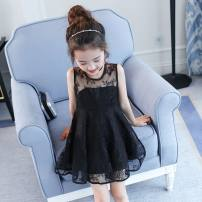 Dress Black, pink, coffee female Other / other 100cm,110cm,120cm,130cm,140cm,150cm,160cm Cotton 80% other 20% summer Korean version Skirt / vest Solid color Cotton blended fabric Splicing style 4, 3, 5, 6, 7, 8, 9, 10, 11, 12, 13, 14, 2
