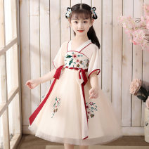 Dress Beige [send pink tassels] female Other / other 110cm,120cm,130cm,140cm,150cm,160cm Other 100% summer princess Short sleeve Solid color other A-line skirt Class B 10, 11, 12, 13, 14, 2, 3, 4, 5, 6, 7, 8, 9 Chinese Mainland