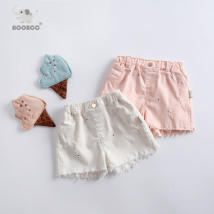 trousers aoobcc female 80cm (12m / 9-12 months) 85CM (18m / 12-18 months) 90cm (24m / 18-24 months) 100cm (3T / 2-3 years) 110cm (4T / 3-4 years) 120cm (5t / 4-5 years) 130cm (130cm) Pink white summer shorts Korean version middle-waisted cotton Open crotch B884 B884 Summer of 2018