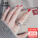 Ring / ring Silver ornaments 101-200 yuan Farenie brand new goods in stock Japan and South Korea female Fresh out of the oven Silver inlaid gems Cross / crown / Roman numerals JZ6389 925 Silver Summer of 2018 no Pure e-commerce (online only)