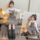 Dress Autumn 2020 Khaki, black Size 110 (recommended height is about 100cn), Size 120 (recommended height is about 110cm), Size 130 (recommended height is about 120cm), size 140 (pay attention to shop red), size 150 (free freight insurance), size 160 (recommended height is about 150cm) other Under 17