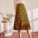 skirt Summer 2021 S,M,L,XL printing Mid length dress commute High waist A-line skirt Decor Type A BQ00789 More than 95% Chiffon The magic magician of Oz polyester fiber Simplicity