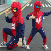 Clothes & Accessories Ultraman Navy Blue [coat + pants] Halloween children Movie characters Spider-Man nothing 120 yards (105-110cm recommended)