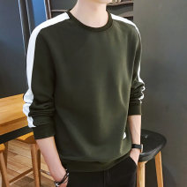 Sweater Youth fashion Others 2 pack, 6701 army green, 6701 black, 6701 white, 6701 dark blue, 6771 yellow, 6771 white, 6771 black, 6771 dark blue M,L,XL,2XL,3XL,4XL Solid color Socket routine Crew neck autumn easy leisure time teenagers tide routine other Color matching No iron treatment