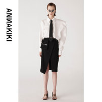 skirt Summer 2021 S M Black 18 Middle-skirt street Natural waist Irregular Solid color 25-29 years old 3A21132188A 71% (inclusive) - 80% (inclusive) Annakiki polyester fiber pocket Polyester 79% viscose 21% Same model in shopping mall (sold online and offline) hippie
