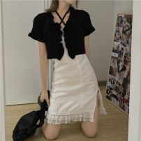 Fashion suit Summer 2020 One size fits all, s, m, l Single knitted cardigan, single suspender dress, two-piece cardigan + suspender skirt