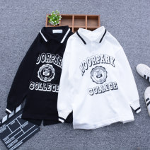 Sweater / sweater Wonderful circle Black, white male The recommended height is about 110cm for size 7, 120cm for size 9, 130cm for size 11, 140cm for size 13, 150cm for size 15 and 160cm for size 17 spring and autumn nothing Korean version Socket routine No model cotton Solid color Class B