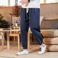 Casual pants Others Youth fashion M,L,XL,2XL,3XL,4XL,5XL routine Ninth pants go to work easy Micro bomb summer teenagers tide 2020 Medium low back Straight cylinder Cotton 100%