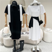 Dress Spring 2021 White, gray, black Average size 18-24 years old 51% (inclusive) - 70% (inclusive)