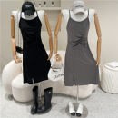Dress Spring 2021 Gray, black Average size 18-24 years old 51% (inclusive) - 70% (inclusive)