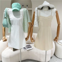 Dress Spring 2021 White, apricot, black M, L 18-24 years old 51% (inclusive) - 70% (inclusive)