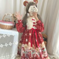 Dress Autumn of 2019 One size fits all, XXS pre-sale Middle-skirt singleton  Long sleeves Sweet stand collar Loose waist Princess Dress Princess sleeve Others 18-24 years old Type A Other / other Lolita