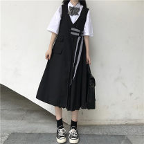 Fashion suit Spring 2021 One size fits all, XXS pre-sale White shirt, black dress 18-25 years old Other / other 96% and above cotton