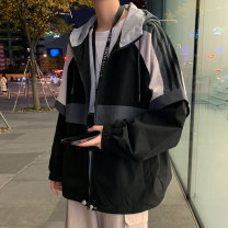 Jacket Montvoo / maiteyou Youth fashion 2121 black 2121 dark blue 2121 light blue 2122 black [fake two pieces] 2122 dark gray [fake two pieces] 2122 blue [fake two pieces] 2122 pink [fake two pieces] M L XL 2XL 3XL routine easy Other leisure spring 27-2121AJQ3 Polyester 100% Long sleeves Wear out