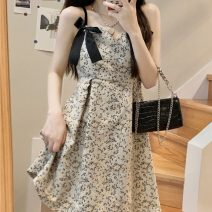 Dress Summer 2021 Top, skirt Average size Middle-skirt singleton  commute High waist A-line skirt 18-24 years old Type A Korean version bow 30% and below other