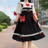 Fashion suit Summer 2021 Average size Shirt, black suspender skirt, blue suspender skirt 18-25 years old 30% and below