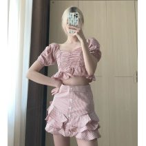 Fashion suit Summer 2021 Average size Top, skirt s, Skirt M 18-25 years old 30% and below