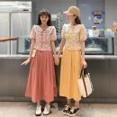 Fashion suit Summer 2021 Average size Yellow top, pink top, yellow skirt, pink skirt 18-25 years old 30% and below