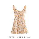 Dress Summer 2020 As shown in the figure S,M,L Short skirt singleton  Sleeveless High waist zipper camisole omm-6935