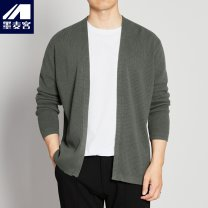T-shirt / sweater M-maicco / Merck other Olive green 170/M,175/L,180/XL,185/XXL,190/XXXL routine Cardigan V-neck Long sleeves autumn Straight cylinder 2020 Cotton 100% leisure time Basic public youth routine Solid color washing Regular wool (10 stitches, 12 stitches) Pure cotton (95% above) other