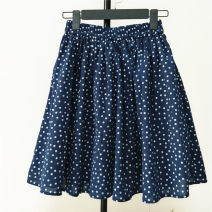 skirt Spring 2021 Navy, yellow longuette Versatile Natural waist Pleated skirt Solid color Type A