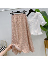 skirt Summer 2021 Average size Pink, yellow Middle-skirt commute High waist A-line skirt Decor Type A 25-29 years old More than 95% other other printing Korean version