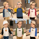 T-shirt Small die 80cm,90cm,100cm,110cm,120cm,130cm male spring and autumn Long sleeves Crew neck leisure time There are models in the real shooting nothing Cotton blended fabric Cartoon animation X2088 other 2, 3, 4, 5, 6, 7, 18 months