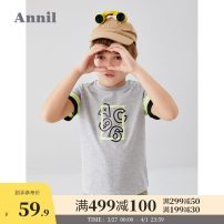 T-shirt Mibai Yazhi Huahui h113cy Yuanli red Annil / anel 110cm 120cm 130cm 140cm 150cm 160cm 170cm male summer Short sleeve Crew neck leisure time There are models in the real shooting nothing cotton Cartoon animation Cotton 100% EB021127 Summer 2020 Chinese Mainland Guangdong Province Dongguan City