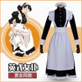 Cosplay women's wear suit goods in stock Over 14 years old English Maid Dress comic L,M,S,XL,XXL Manshe square maid female