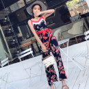 Casual pants Decor S M L XL Summer of 2018 trousers Jumpsuit High waist commute routine 18-24 years old 96% and above Other / other Korean version