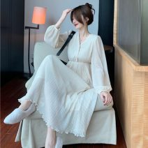 Fashion suit Spring 2021 S. M, average size Pearl sweater, Pleated Dress 18-25 years old 30% and below