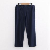 Casual pants 1 # Navy a-5-9-1,2 # red a-5-9-1,3 # black a-5-9-1 S,M,L,XL,2XL Summer 2020 trousers High waist commute Thin money Lady Boya Korean version pocket